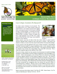Screenshot of the April 2014 newsletter