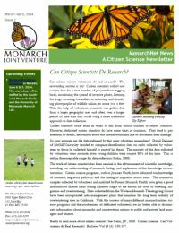 Screenshot of the April 2014 newsletter