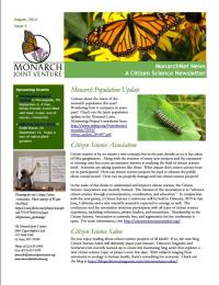 Screenshot of the August 2014 newsletter
