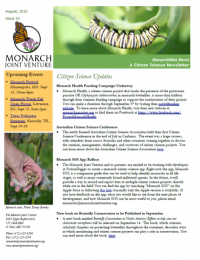 August 2015 newsletter screenshot