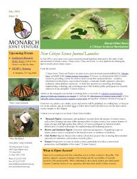 MonarchNet News July 2016 front page