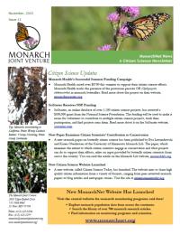 MonarchNet News Citizen Science Newsletter November 2015