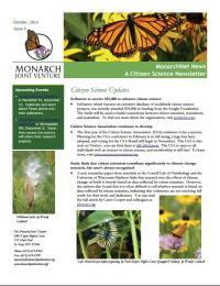 Screenshot of the October 2014 newsletter